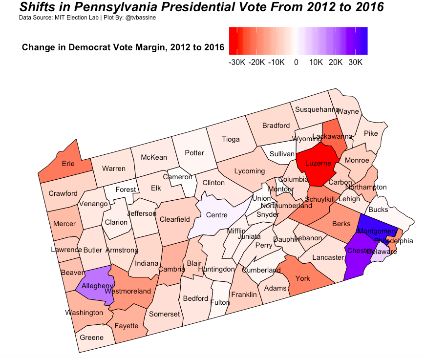 Pennsylvania and the 2016 Urban vs. Rural Divide